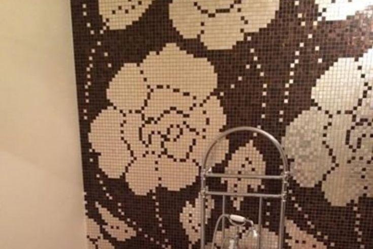 vasca vittoriana con mosaico hand made