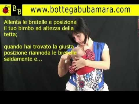 Allattare neonato nella fascia mei tai marsupio portabebè. Tutorial come allattare - YouTube