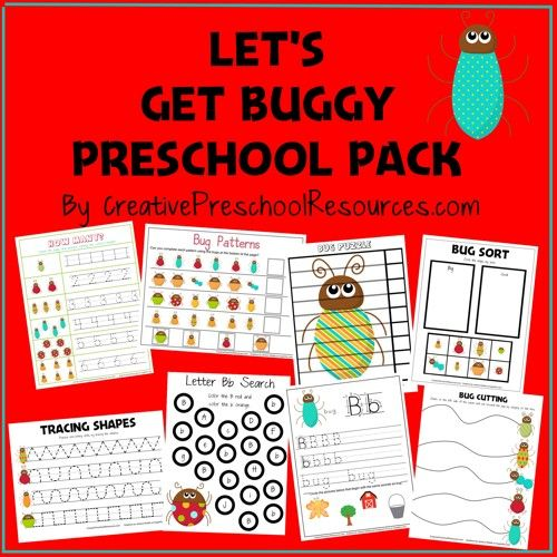 FREE Bug Pack for Preschool or beginning of K