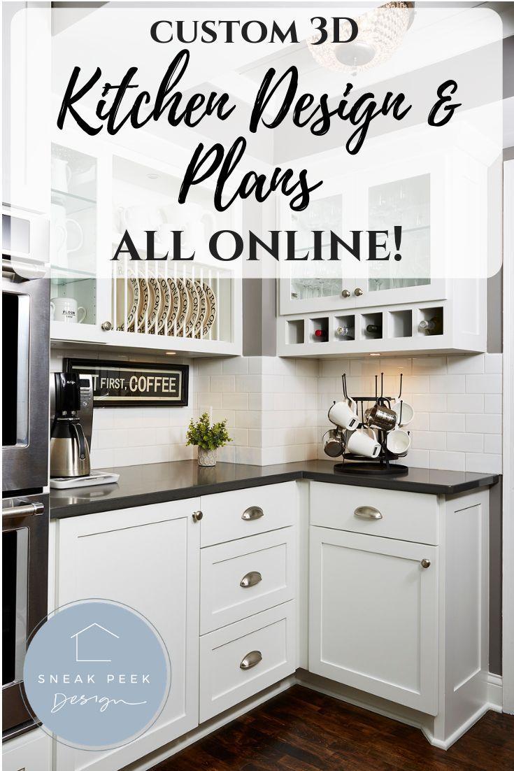 Edesign Or Online Interior Design It S An Affordable Alternative To Our Full Online Kitchen Design Kitchen Plans Kitchen Remodel