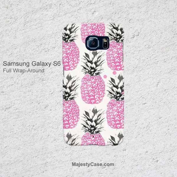 Cute Pink Pineapple Pattern Samsung Galaxy S6 G920 Case
