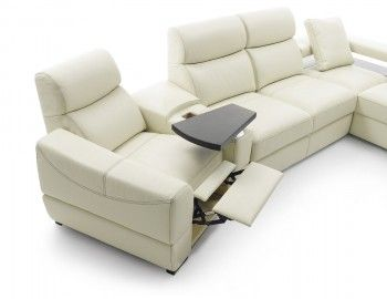 Recliner, divan and bed all-in-one.