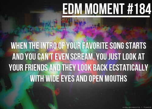 """EDM Moment 184 , """"there is only a select group of people that understand me when the music calls to me and WE need to be a part of that"""