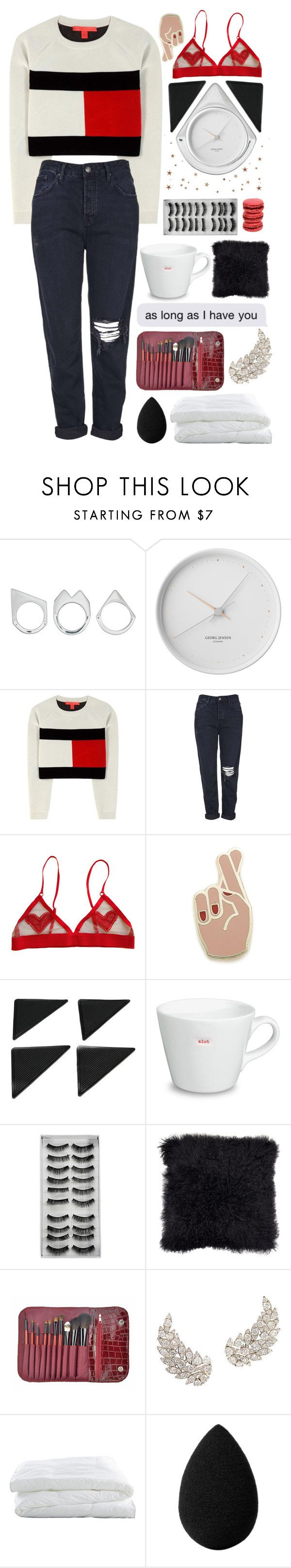"""as long as i have you"" by taraturk ❤ liked on Polyvore featuring Moratorium, Georg Jensen, Tommy Hilfiger, Topshop, Georgia Perry, Ladurée, Keith Brymer Jones, Crate and Barrel, beautyblender and tommyhilfinger"