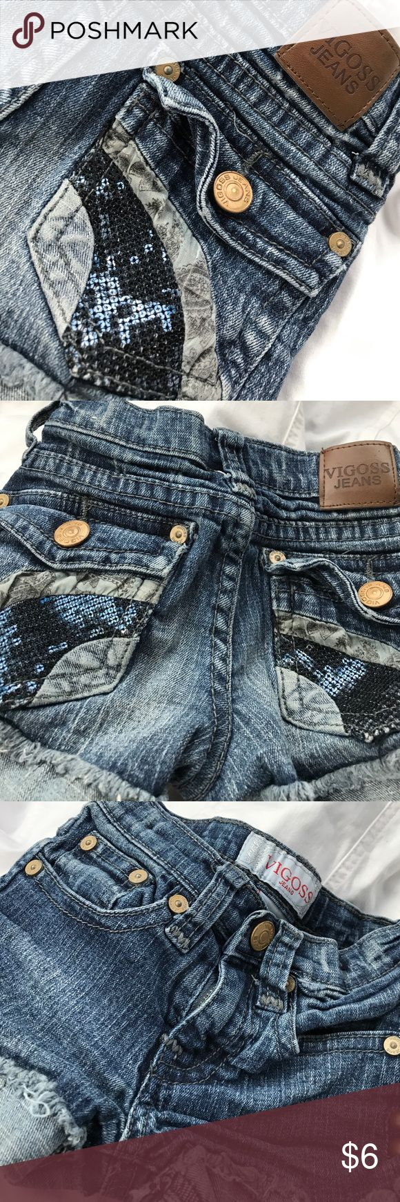 Vigoss sparkle jeans for your 👸 Super cute summer shorts with sequined striped back pockets Vigoss Bottoms Shorts