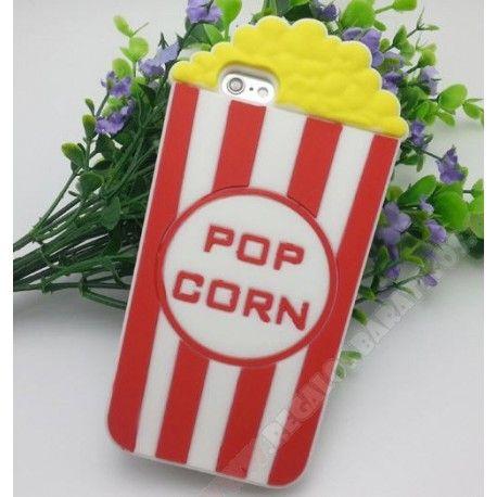 Carcasa silicona 3D popcorn palomitas para mi móvil iPhone 7 Plus