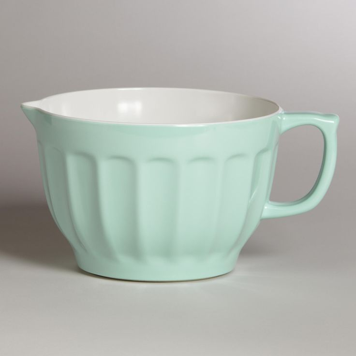 This is totally cute! Love the vintage green color.  Mint Melamine Batter Bowl | World Market