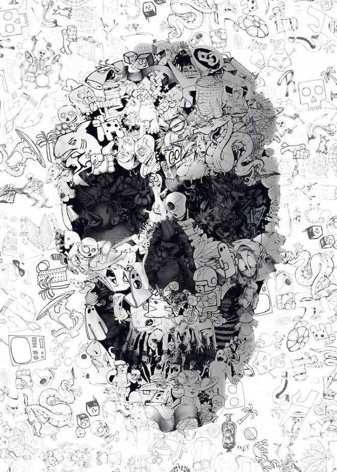 17 meilleures id es propos de illustrations t te de mort for Statut illustrateur