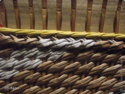 Мастер-класс Плетение: МК закрытия косого плетения Трубочки бумажные. Фото 1