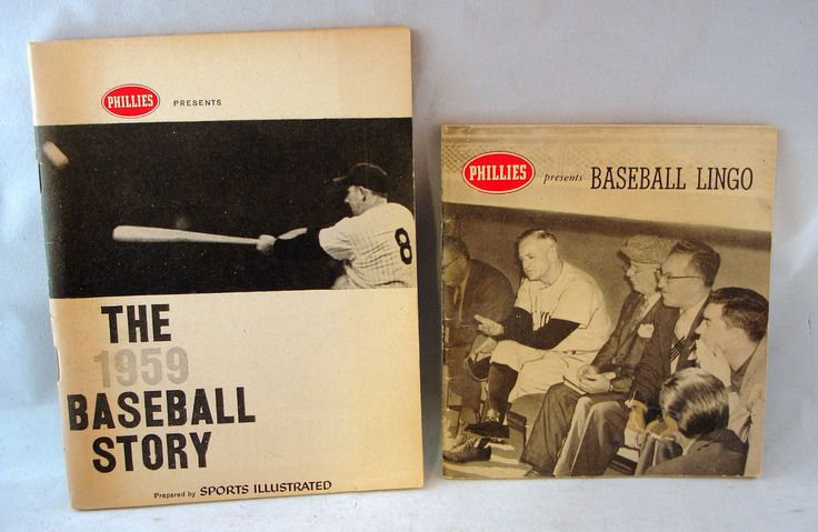 1959 Baseball Story Book by Sports Illustrated and Phillies Cigars Plus Bonus   eBay