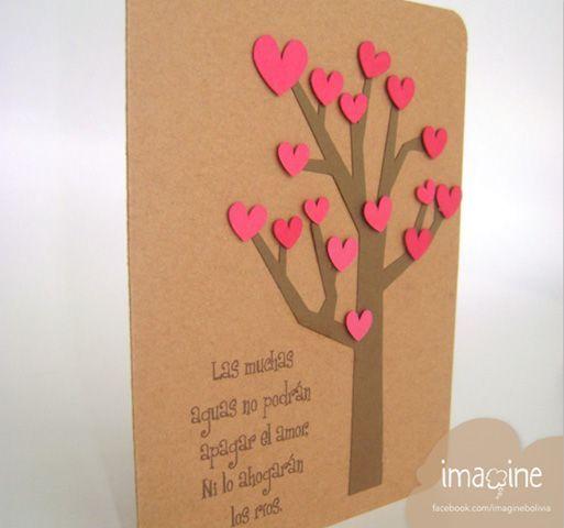 M s de 25 ideas incre bles sobre tarjetas de san valentin - Tarjetas de navidad manuales ...