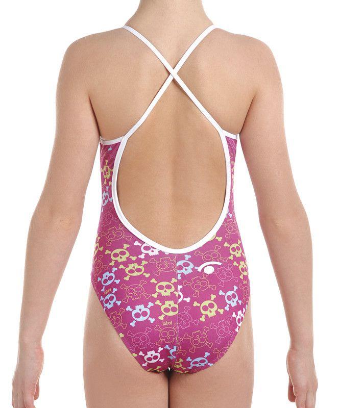 Girls Training One-Piece Danger Girl Swimsuit