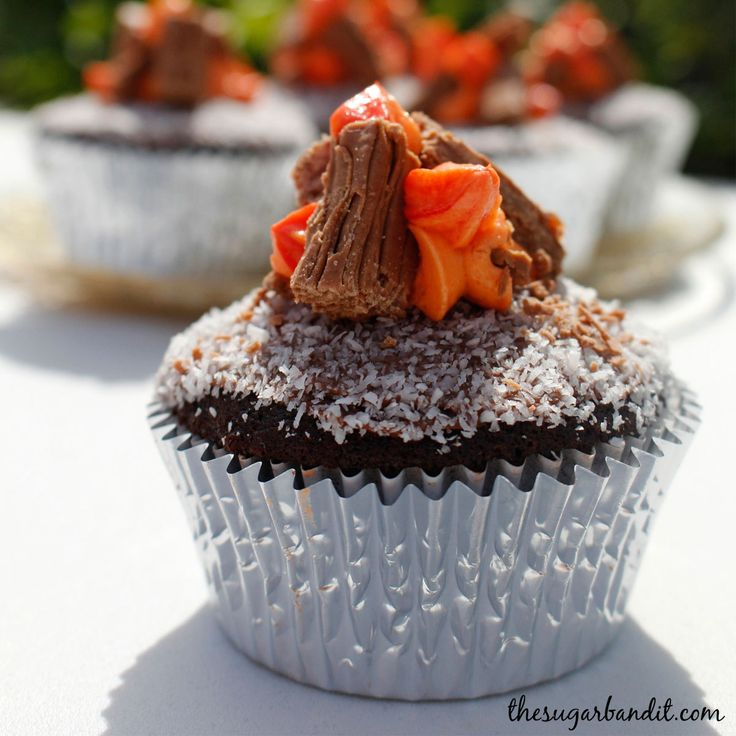 Campfire cupcakes. The perfect accompaniment to a Wild West murder mystery dinner party.