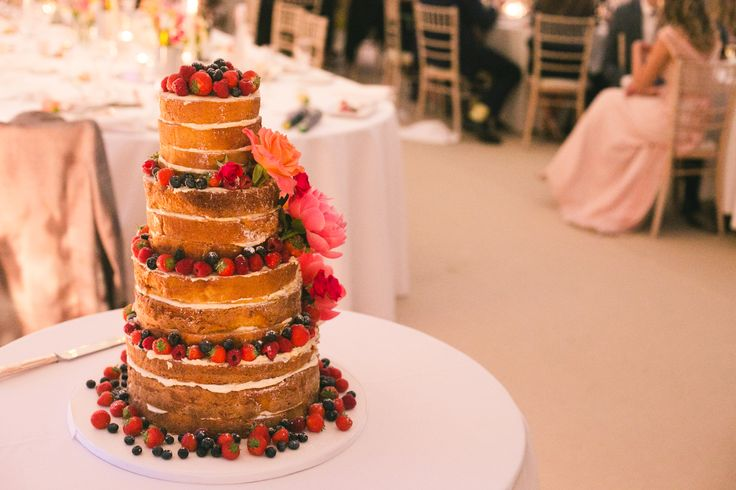 Summery, elegant and simple. This naked sponge cake is the perfect centerpiece for a sunny British wedding, and it's one I think even Mary Berry would be proud of.