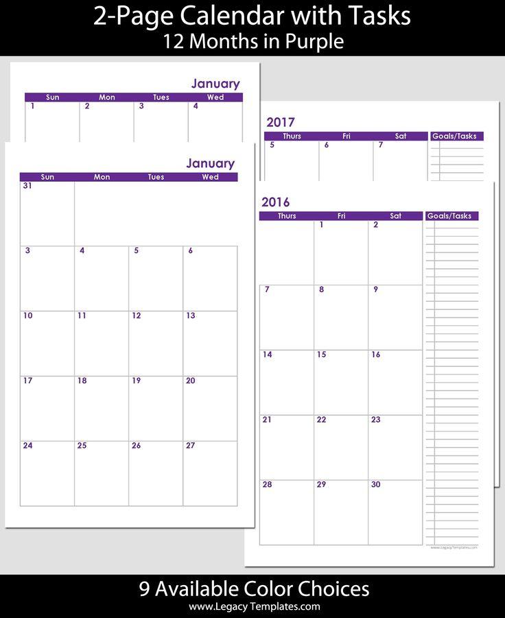 Calendar Half Sheet : Best calendars images on pinterest beauty products