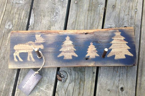 Rustic coat rack, Moose Tree coat rack wall hook, wall decor woodland coat rack rustic home decor, gifts for him, Woodland Forest rustic