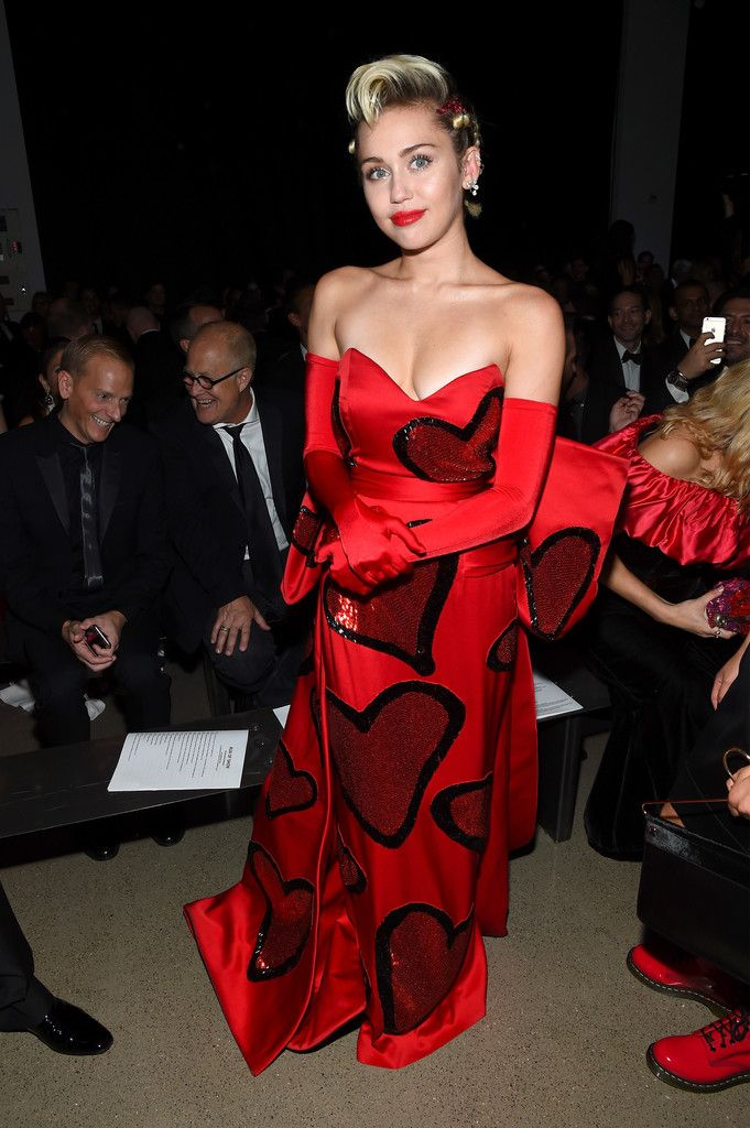 Miley Cyrus is Filled with Love at the amfAR Inspiration Gala
