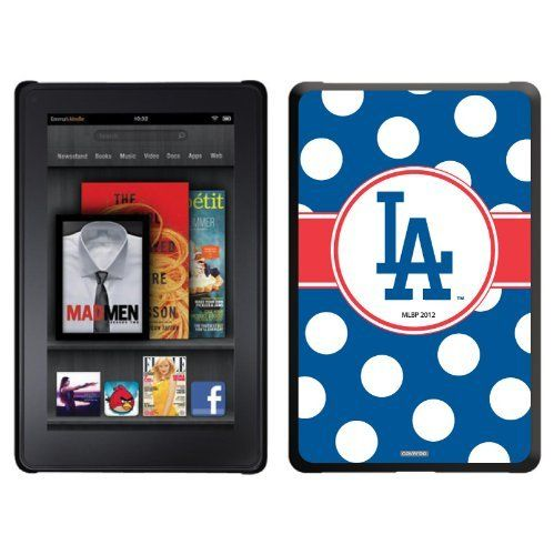 L.A. Dodgers - Polka Dots design on a Black Thinshield Case for Amazon Kindle Fire by Coveroo. $39.95. This hard shell polycarbonate case offers a slim fit form factor, while covering the back and sides of your Kindle Fire