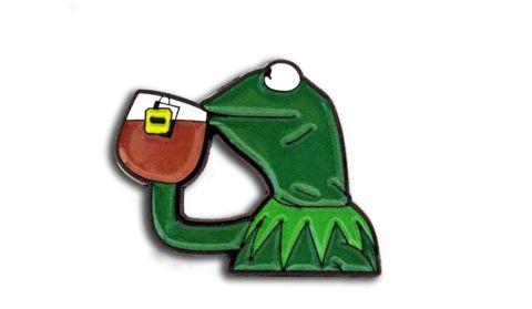 None Of My Business // Kermit // Patti Lapel // pins // enamel pin // vintage // tea