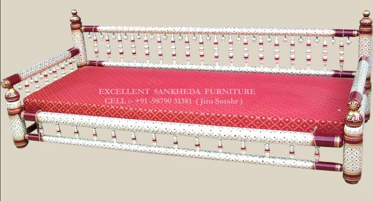 Long Sofa ( pearl white & red )