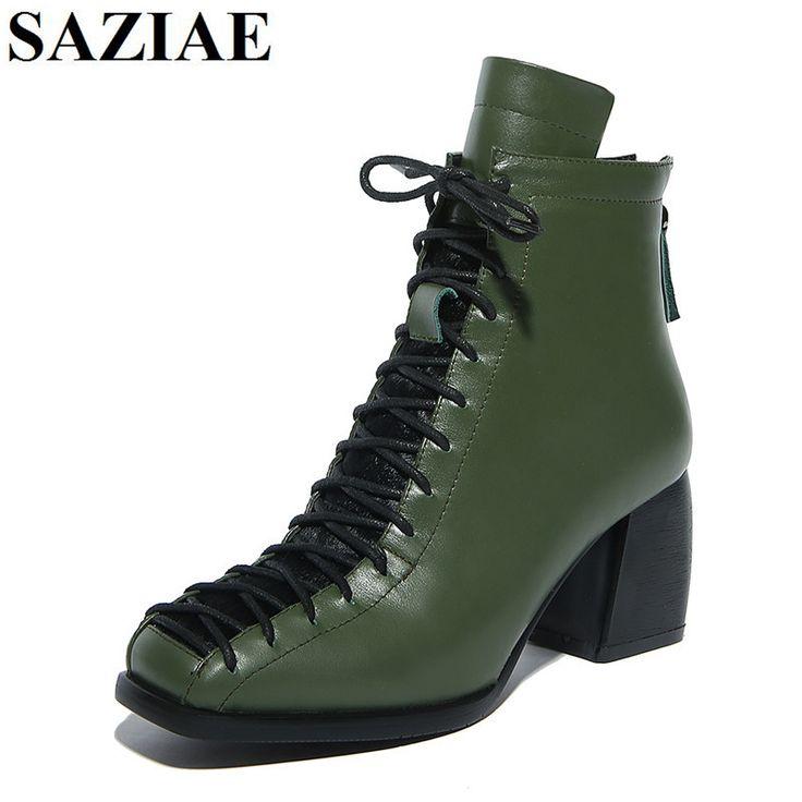 [SAZIAE] Genuine Leather <b>Women</b> Messenger Bags <b>Boots Square</b> ...
