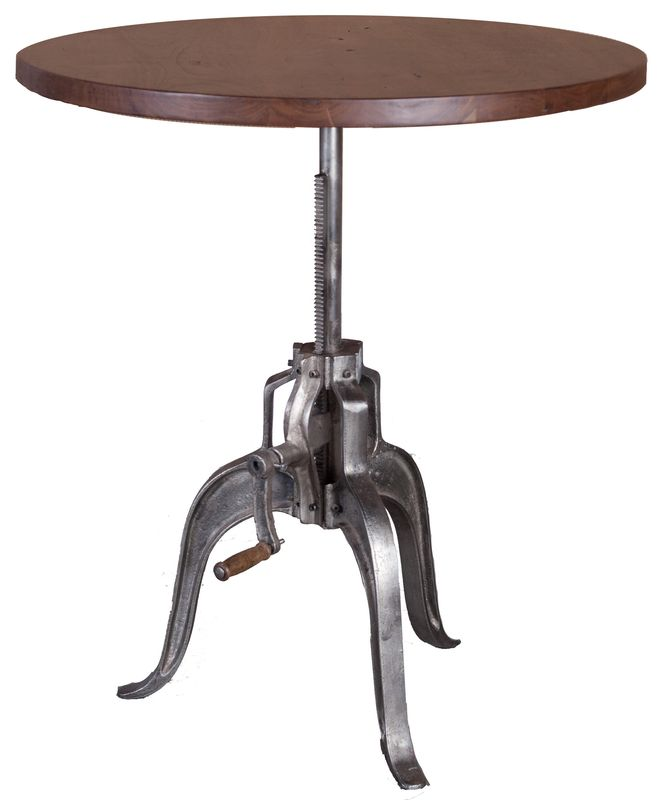 The Verde 36  Crank Table   Dark Walnut Nickel Antique from LH Imports is. 83 best Eclectic Furniture Pieces by LH Imports images on Pinterest