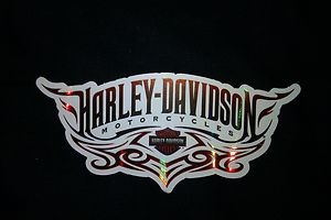 """You are buying one authentic Harley Davidson sticker decal.  The sticker measures approximately 2.5 x 4"""".    This sticker would go great on a motorcycle helmet, toolbox, locker or hard hat.    Please visit our store   www.ebay.com/...  or email us for a price on bulk orders.    If you are not completely satisfied with your purchase please send back for a refund.         Thank you!"""