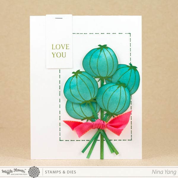 Five for Friday & A Poppy Pod Bouquet Card (with How-tos)
