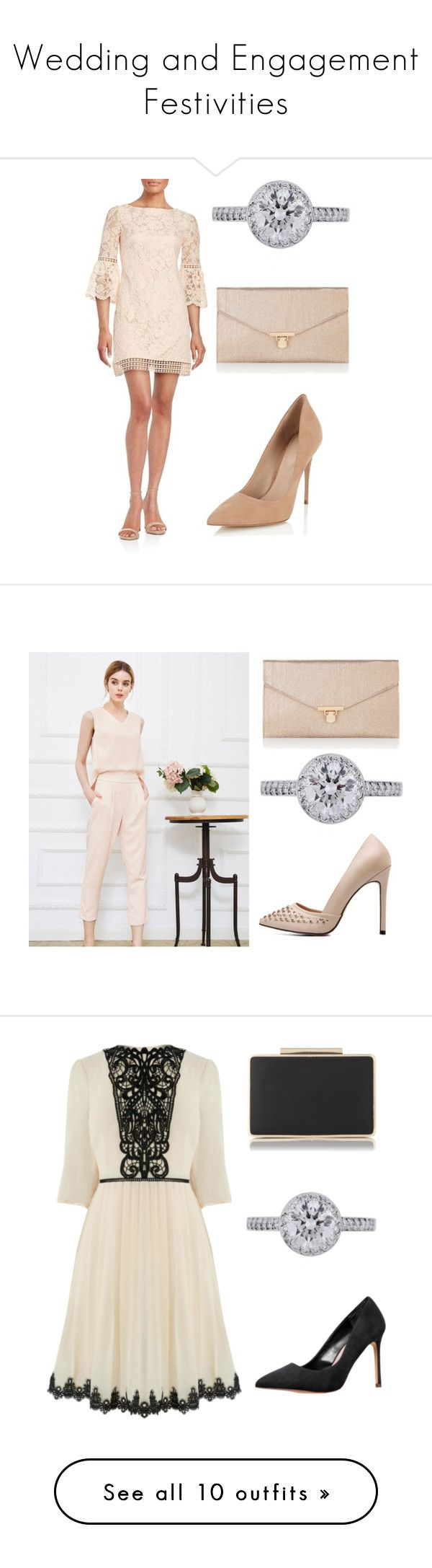 """""""Wedding and Engagement Festivities"""" by dezac-novaes on Polyvore featuring moda, Eliza J, Lipsy, Tiffany & Co., Accessorize, WithChic, Carvela, Ultimate, Neville e Van Cleef & Arpels"""