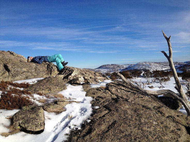 On top of Australia...bliss.  #perisher #snow pic by Sarah Rowan Dahl