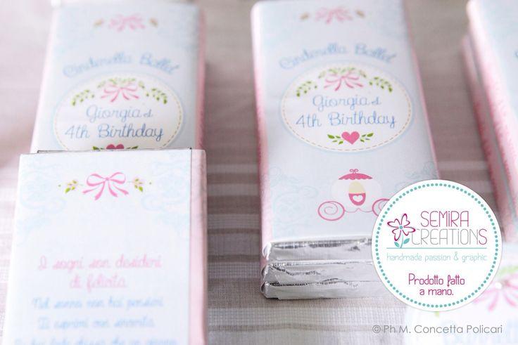 Le barrette di cioccolato personalizzate per il compleanno della piccola Giorgia