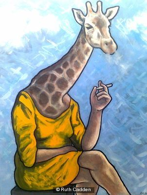 smoking-giraffe