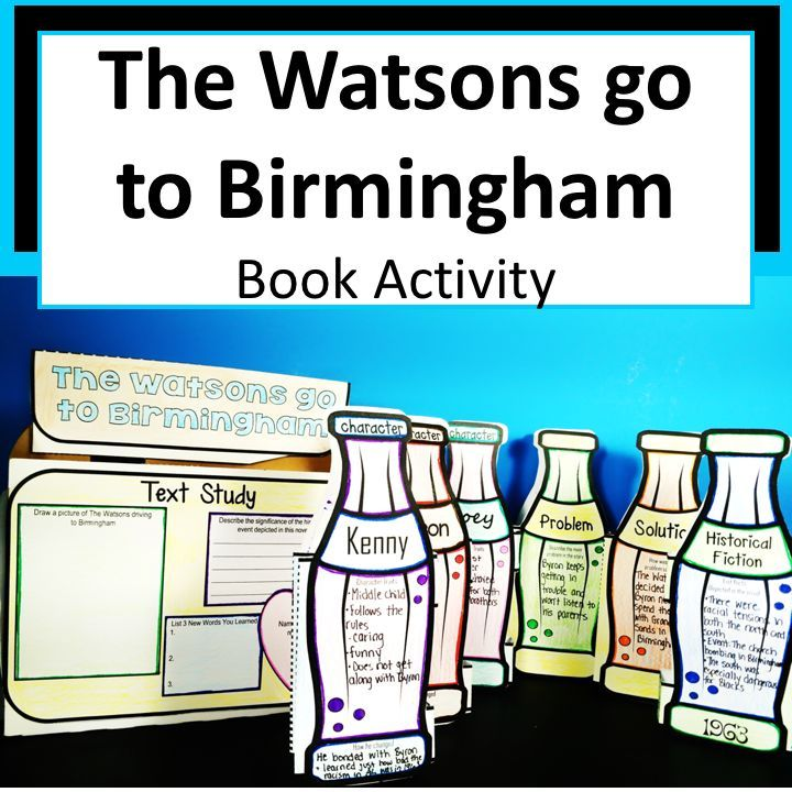 The Watsons Go To Birmingham Book In A Bottle Project Book