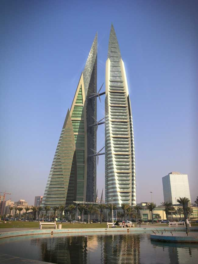 The Bahrain wtc, we could also see these from our apartment, they were amazing buildings