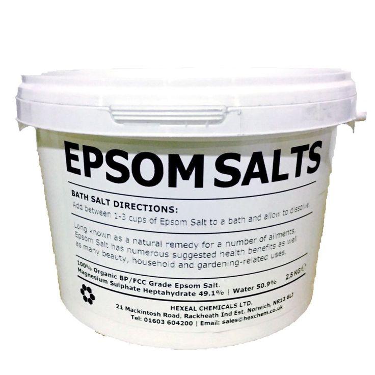 Details about epsom salt 25kg bucket fcc food grade