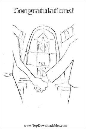 Free Printable Christian Wedding Card Template Christian