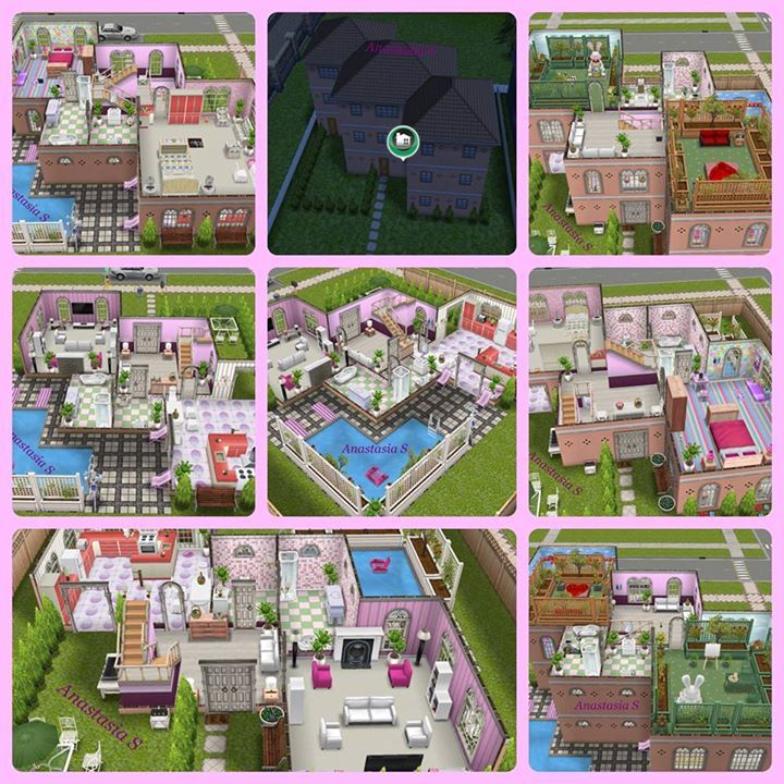 Sims Freeplay I Like The Zigzag Shape Of The House