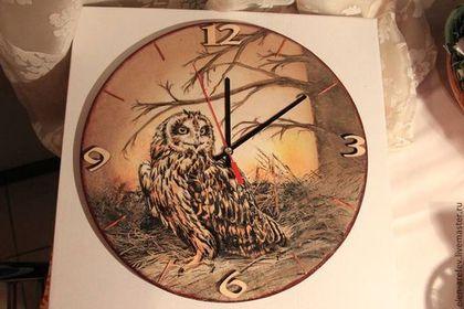 "Часы для дома ручной работы. Ярмарка Мастеров - ручная работа Часы ""Сова"". Handmade."