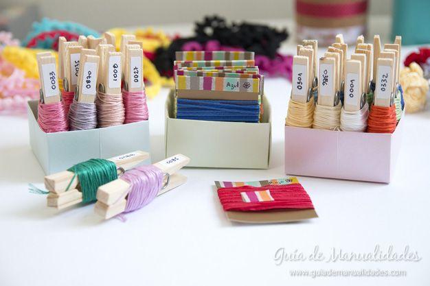 2 ideas para organizar hilos y cintas para manualidades