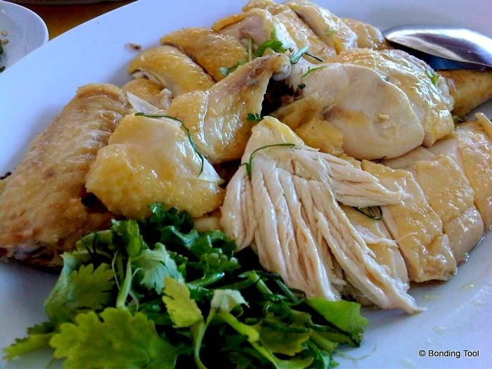 Asian rolled boiled chicken recipe