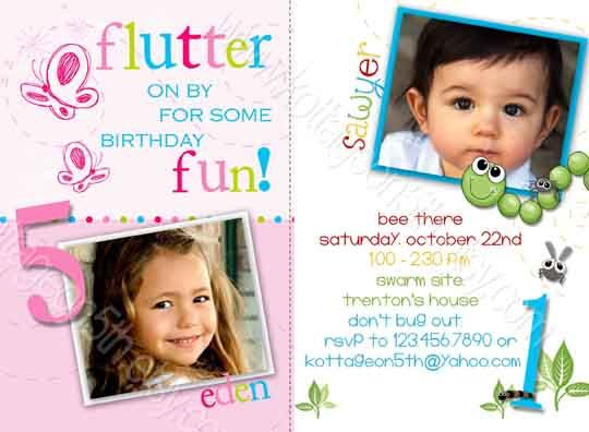 53 best Joint or Twin Birthday Parties images – Dual Birthday Party Invitations