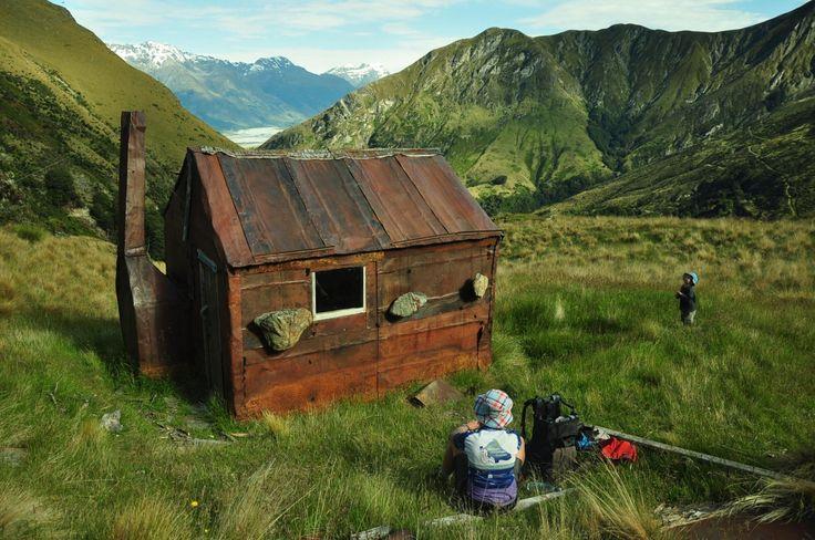 Heather Jock Hut, in the Whakaari Conservation Area near Glenorchy. Stunning old DOC hut. #dochuts
