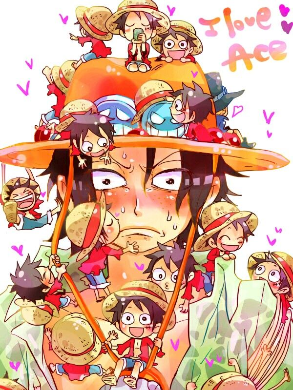ASL Brothers Portgas D Ace Monkey D Luffy One Piece