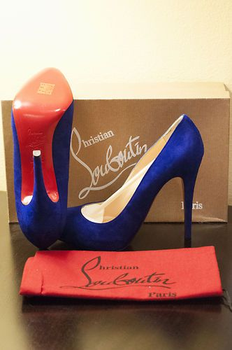 beautiful blue Louboutins
