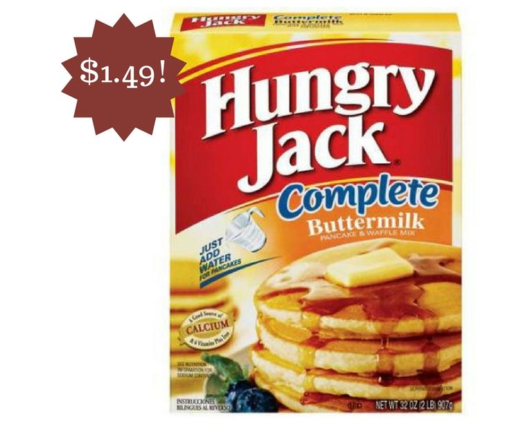 Hungry Jack Pancake Mix Only $1.49 - http://www.couponsforyourfamily.com/hungry-jack-pancake-mix-only-1-49/