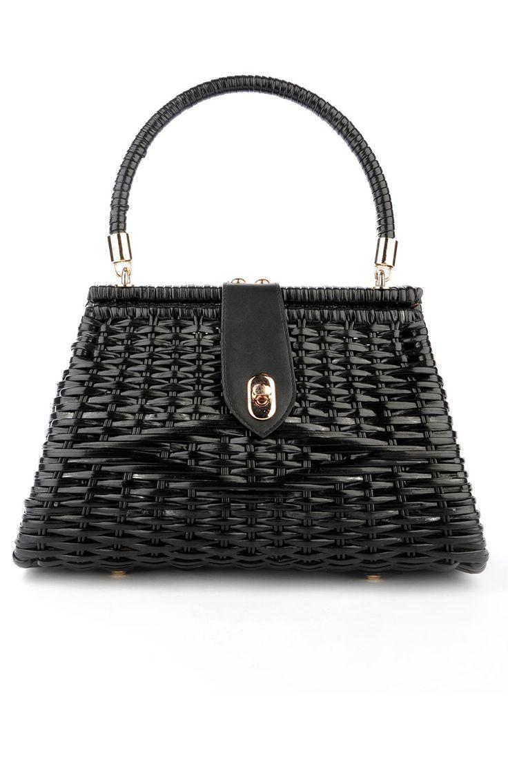 Chanel handbag superb vintage chanel bag vintage leather - Wicker Purse In Black