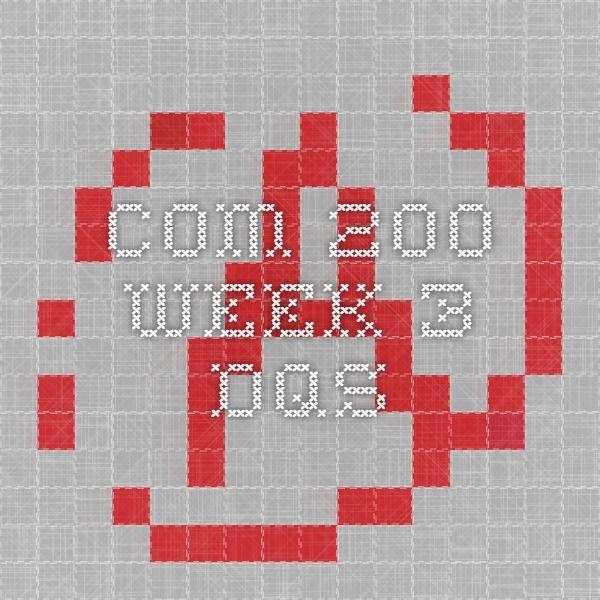 COM 200 Week 3 DQs