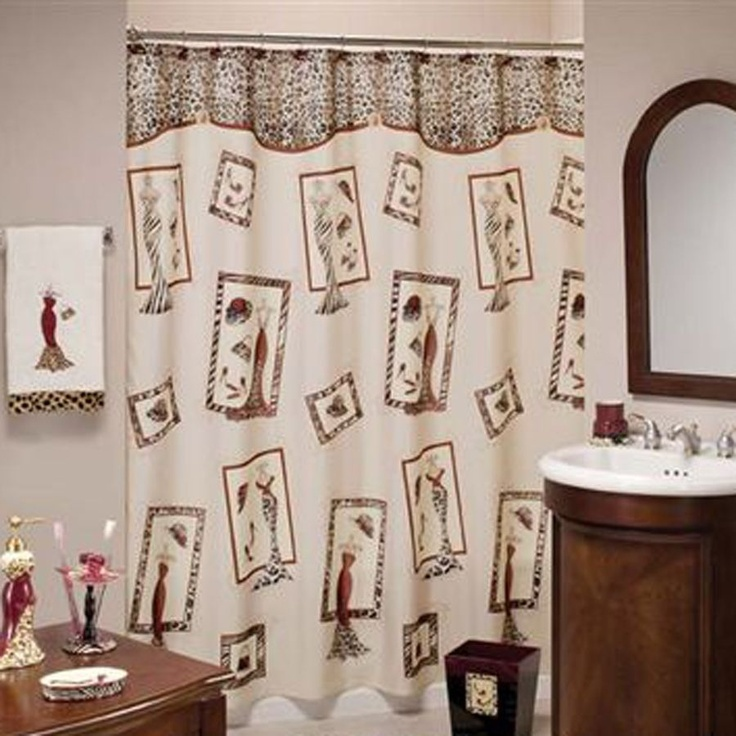 Girly shower curtain!!! | For the home!!! | Pinterest