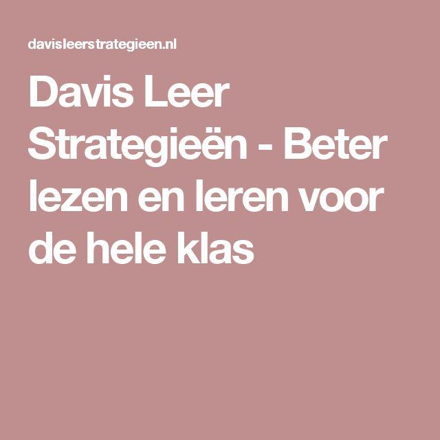Davis Leer Strategieën - Beter lezen en leren voor de hele klas