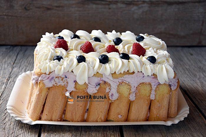 Rețetă de tort cu fructe de pădure și iaurt, o rețetă fără coacere #retete #reteteculinare #retetedetorturi #tortcufructe #poftabunacuGinaBradea #reteteleGinei #tort #recipes #cooking #cook